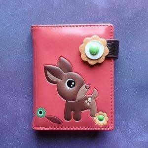 NWT Cute Deer & Owl Wallet - Vegan Leather